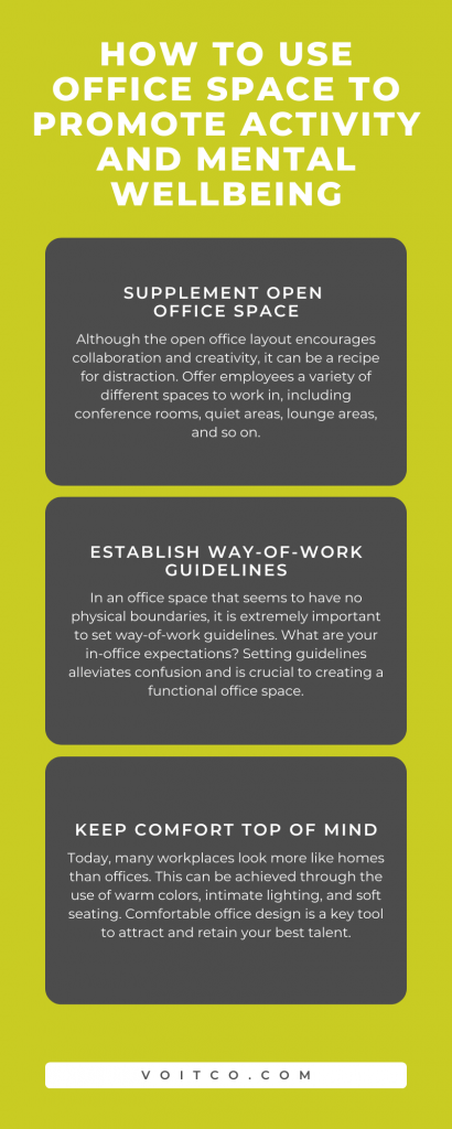 How to Use Office Space to Promote Activity and Mental Wellbeing